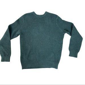 J Crew Green Knit Pullover Crew Neck Sweater Sz L